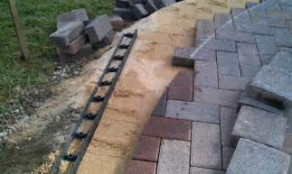 Patio Paver Edging Landscape Field How To Build A Patio Part Three
