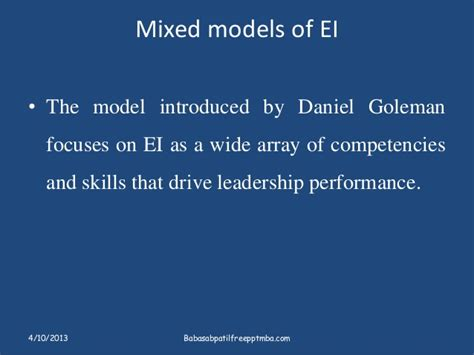 Mba Competencies by Emotional Intelligence Sets Apart Leader Ppt On Hrm Mba