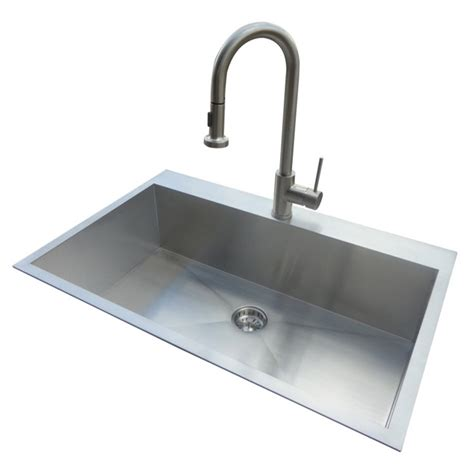 kitchen sink stainless steel shop american standard 20 gauge single basin drop in or undermount stainless steel kitchen sink