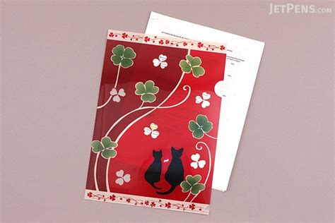 japanese pattern folders kurochiku japanese pattern clear folder a4 neko no