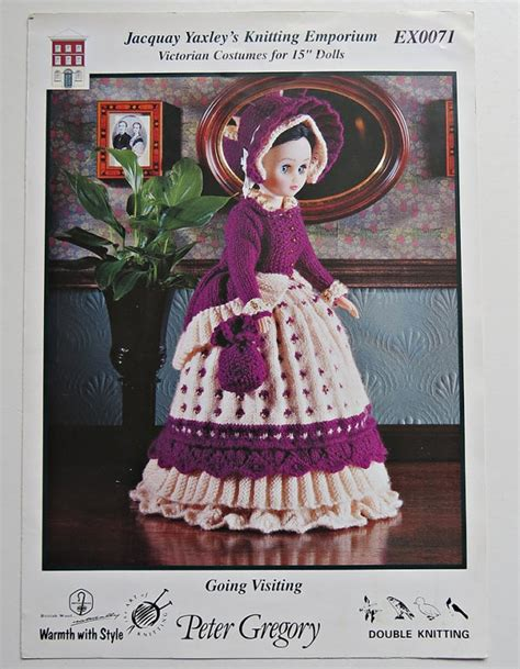 victorian pattern pinterest victorian costume knitting pattern for 15 inch dolls