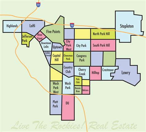 Denver Property Records By Owner Denver Colorado Neighborhoods Map Live The Rockies Real Estate