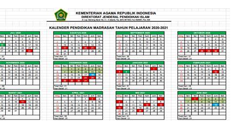 kalender pendidikan  madrasah jawa timur excel harian madrasah