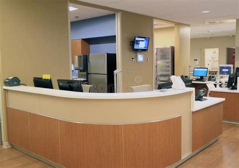 hospital reception desk stock image image of commercial