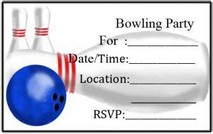 bowling birthday card template free bowling invitations lovetoknow