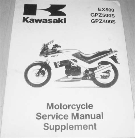 Sell Kawasaki Service Manual Supplement 1987 1993 Ex500