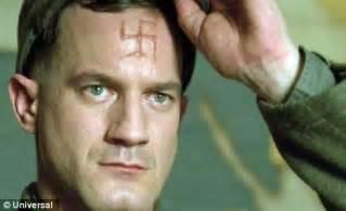 nazi tattoo on chest movie brad pitt turns nazi killing commando in tarantino