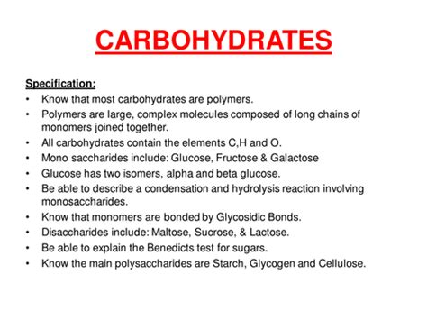 24 2 carbohydrates answers carbohydrates aqa by missscooke uk teaching resources tes