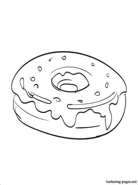 Donut Coloring Pages To Print Coloring Pages Donuts Coloring Pages