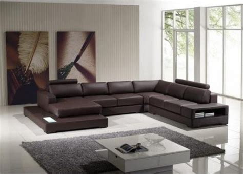 tosh furniture ultra modern espresso leather