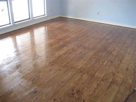 DIY plywood wood floors. Full instructions! Save a ton on
