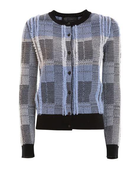 Check Cardigan check pattern wool cardigan by versace cardigans ikrix