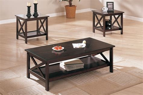 3 pcs table set x design accents brown coffee end
