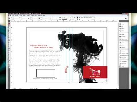 How To Design A Book Cover Book Design Youtube Indesign Book Templates 6 X 9