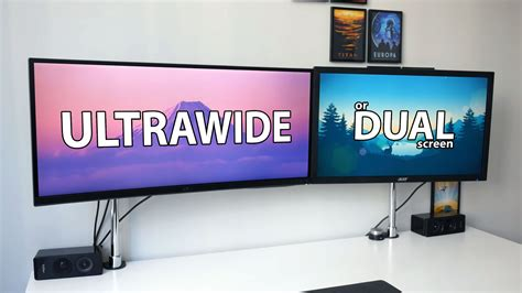 best desk setup for productivity ultrawide vs dual screen what is the best setup for