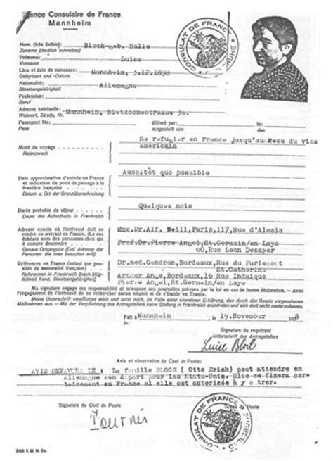 Lettre Type Recours Refus De Visa Les Juifs Allemands Refoul 233 S Par La