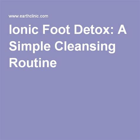 Is Ionic Foot Detox Real by 1000 Ideas About Ionic Foot Detox On Foot