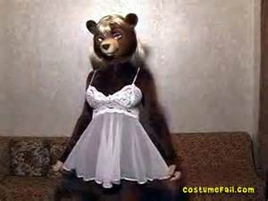 furries lingerie bear costume fail