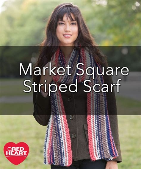how to make a scarf without knitting market square striped scarf free knitting pattern in