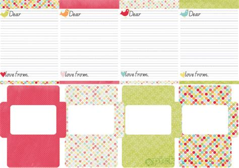letter writing paper and envelopes printable letter writing set picklebums