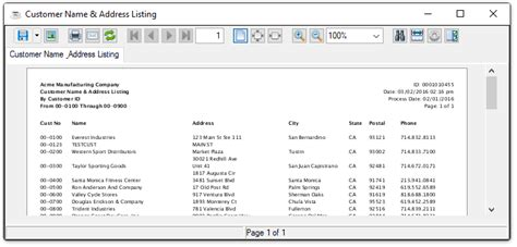 Search For Name By Address Customer Name And Address List
