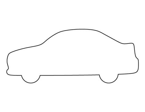 free car template car pattern use the printable outline for crafts
