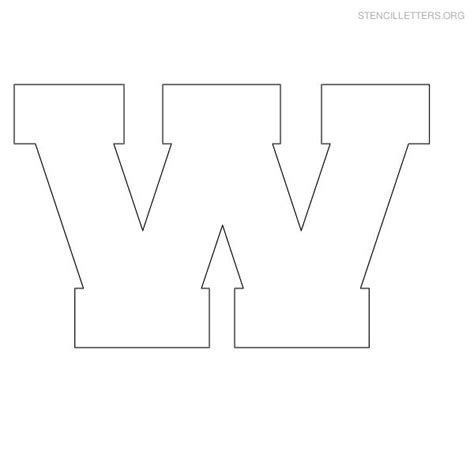 Block Lettering Template Free Coloring Pages Of W Block Letter