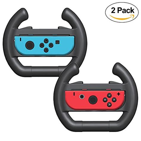 New Nintendo Switch Con Wheel Set Of 2 Aif612 1 fyoung con wheel for nintendo switch steering wheel for nintendo switch set of 2 blue and
