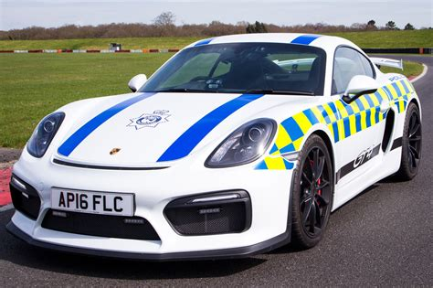 police porsche porsche cayman gt4 kitted out for police duty by car magazine