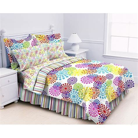 twin bed in a bag sets cheap price polka dots stripes girls twin comforter set