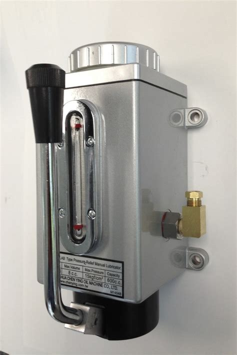 manual pump oiler  bridgeport milling machine  shot lubrication eisen machinery