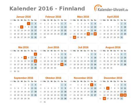 Feiertage Kalender 2016 Feiertage 2016 Finnland Kalender 220 Bersicht