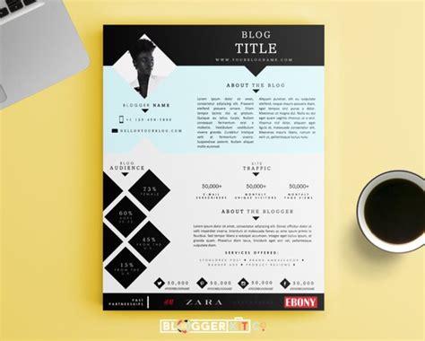 One Page Media Kit Template Press Kit Template By Bloggerkitco Epk Press Kit Template