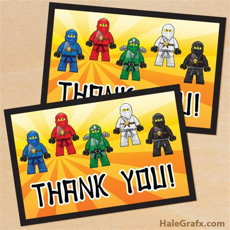 lego thank you card template free printable ninjago thank you card