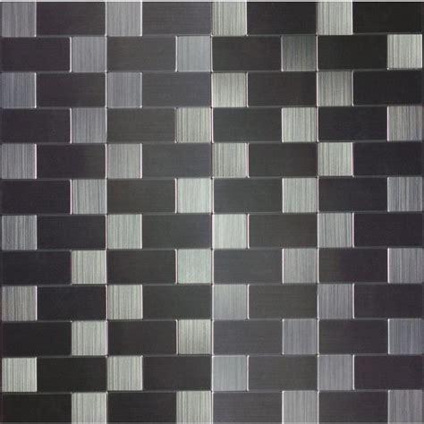 shop instant mosaic brushed stainless mosaic metal subway