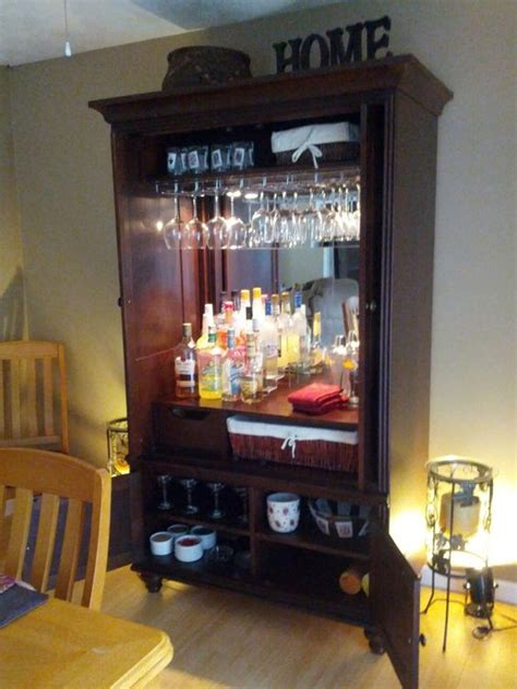 upcycled tv armoire made tv armoire into bar our new home creations pinterest bar armoires and coffee
