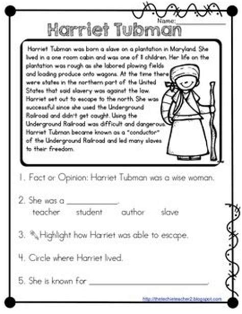 harriet tubman elementary biography harriet tubman and reading on pinterest
