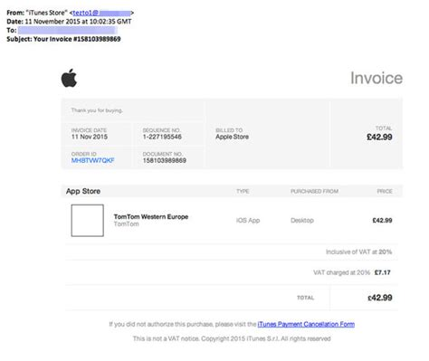 apple invoice template whatever you do do not open this email from apple itunes