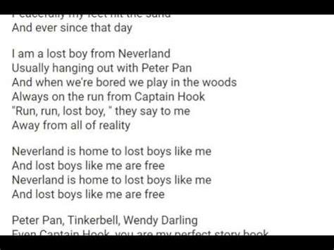lost lyrics lost boy piano and lyrics