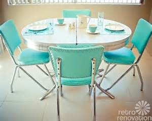 Retro Dining Table And Chairs Set Dinette Sets Retro Renovation