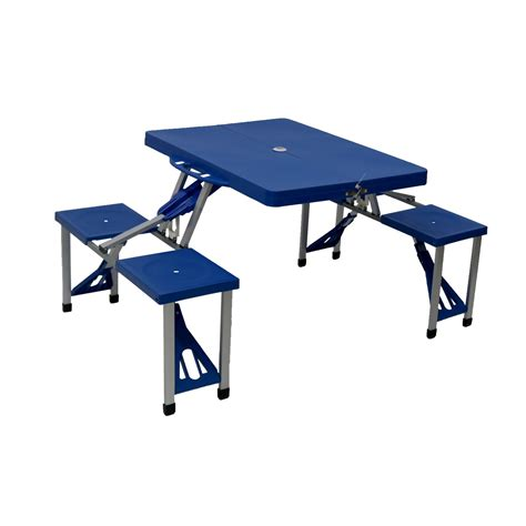 folding table and bench set portable folding outdoor picnic table and bench set 4
