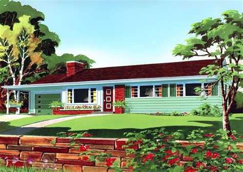 50s house design through the decades az 1950s exterior house photos