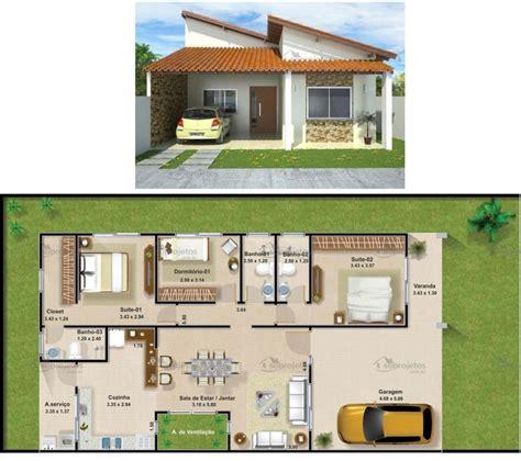 casa tre plantas de casas 3 quartos casas 3 quartos