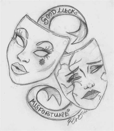 theatre mask tattoo designs pin by larissa lara on tattoos drawings mask drawing