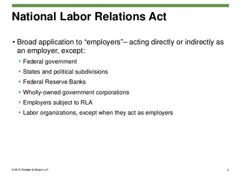 national labor relations act section 7 nlrb briefing regarding employee handbook policies