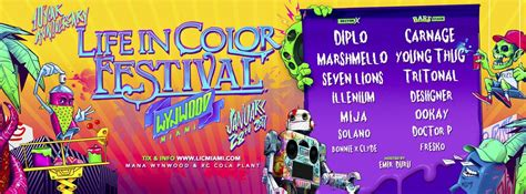 in color miami in color miami 2017 lineup event preview edm
