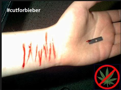 why do people cut their wrists in a bathtub ooops justin bieber fans slitting their wrists to get him