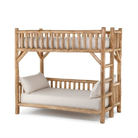 Rustic Loft Bed by Rustic Bunk Bed 4258l 4258r La Lune Collection