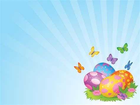 yellow easter eggs powerpoint templates aqua cyan