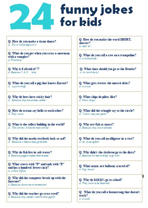 printable funny jokes 24 funny jokes for kids with free printable school mum